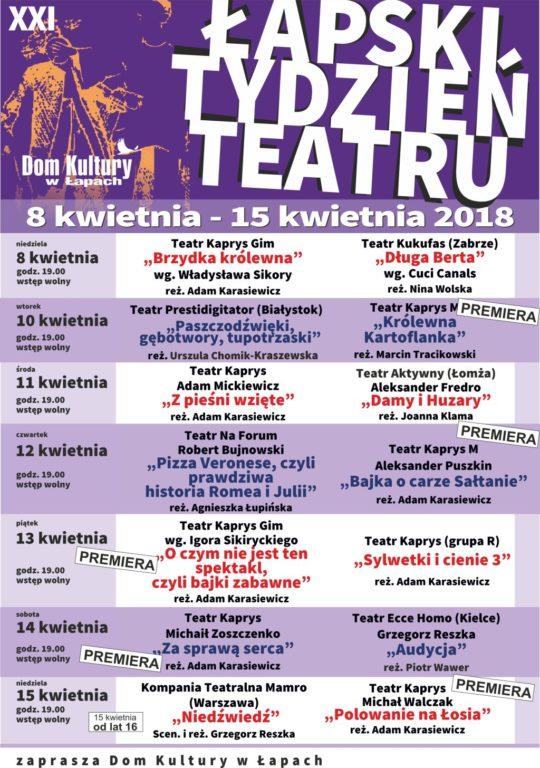 PLakat Łapski Tydzień Teatru
