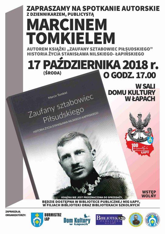 Historia życia Stanisława Nilskiego-Łapinskiego  17 października 2018 r.środa, godz. 17:00 w sali Domu Kultury