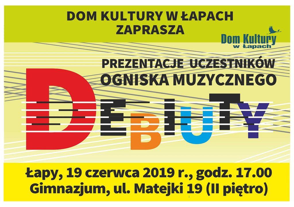 Dom Kultury w Łapach zaprasza na prezentacje uczestników ogniska muzycznego