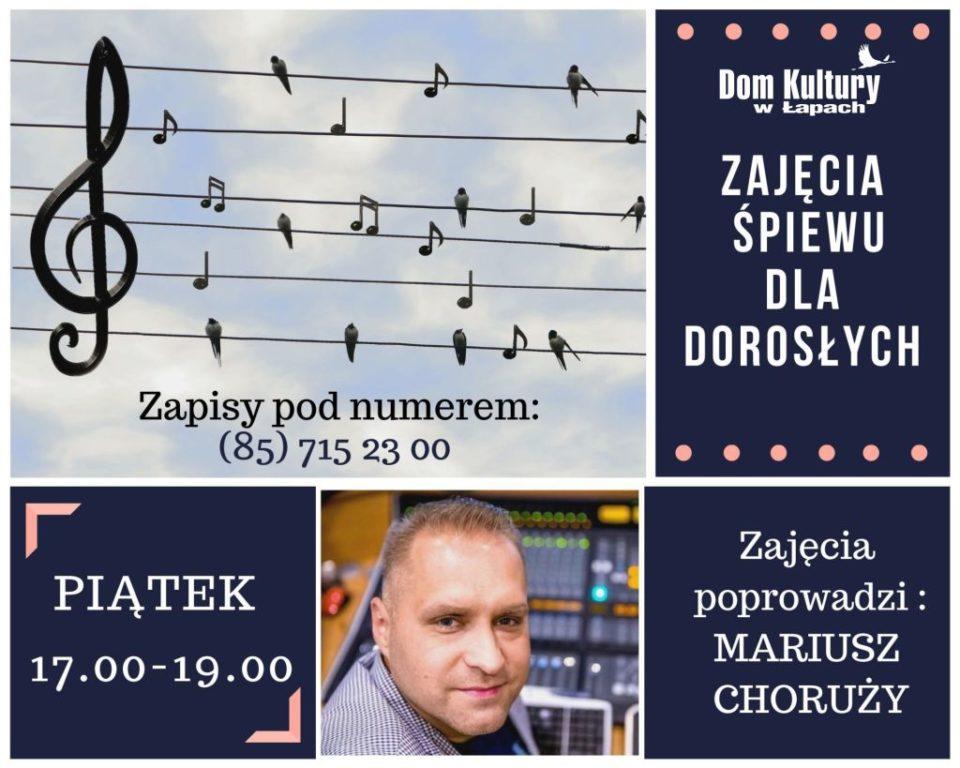 Dom Kultury serdecznie zaprasza Zajęcia śpiewu dla dorosłych we piątki od 17:00-19:00.