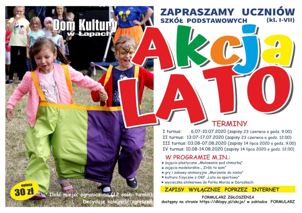 plakat akcji lato z domem kultury