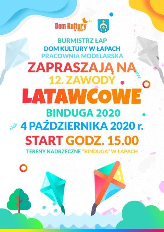 plakat zawody latawcowe binduga 2020
