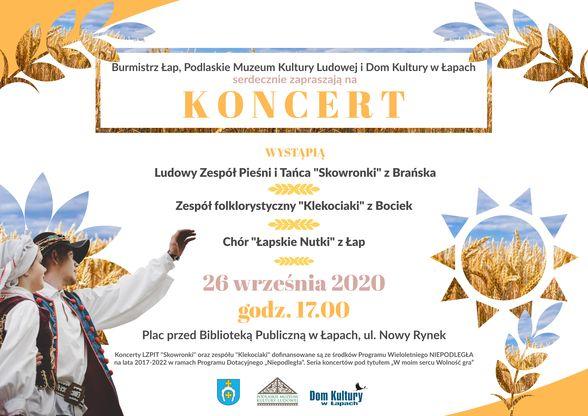 koncert ludowego zespołu pieśni i tańca skowronki