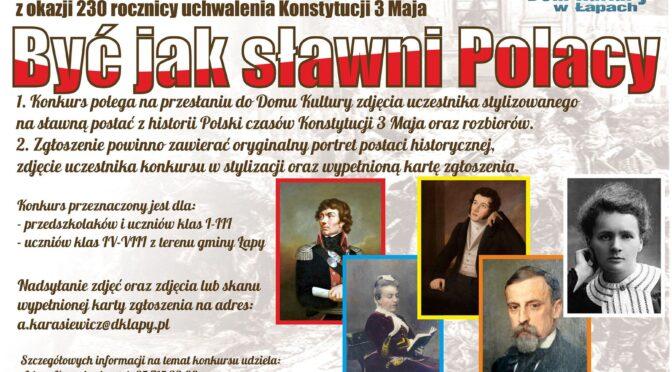 Być jak sławni Polacy. Konkurs
