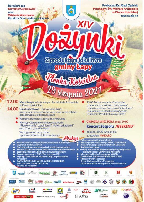 XIV Dożynki z produktem lokalnym gminy Łapy.