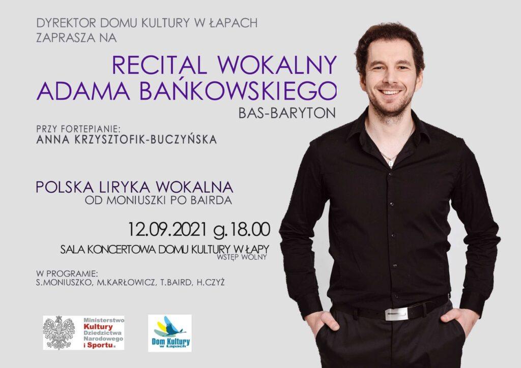 recital wokalny Adama Bańkowskiego